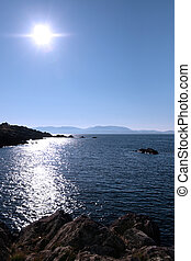 sunny rocky kerry blue view - scenic view in kerry ireland...