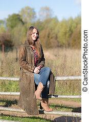 sunny rural portrait