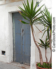 Sunny secluded courtyard in old Tarifa