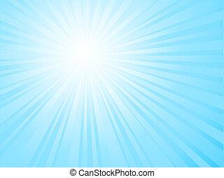 Sunny sky - Sunburst sky background
