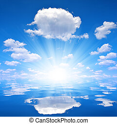 sunny sky above sea