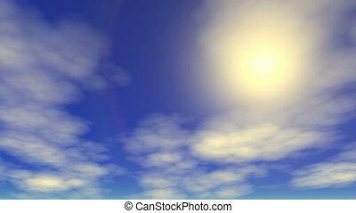 Sunny sky time lapse