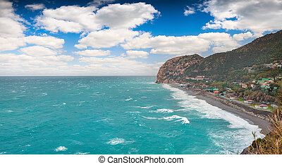 Sunny spring morning on the cape Milazzo