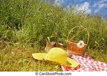 Sunny summer day on the prairie