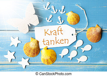 Sunny Summer Greeting Card With Kraft Tanken Means Relax