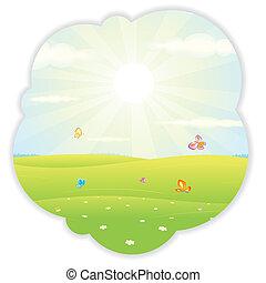 Sunny Summer Illustration Vector