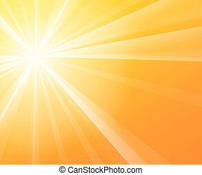 Sunny Sunshine - Yellow solar Sun light on a bright and warm...