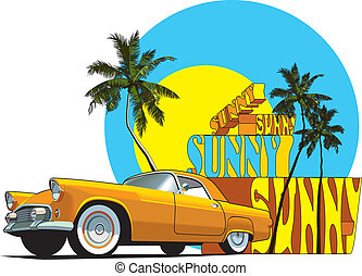 Sunny - Vectorial composition on on the theme of summer.