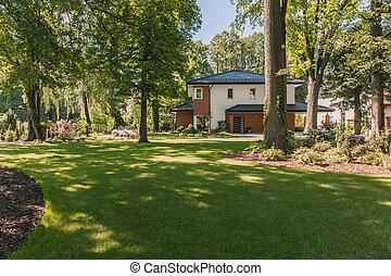 Sunny villa with garden patio