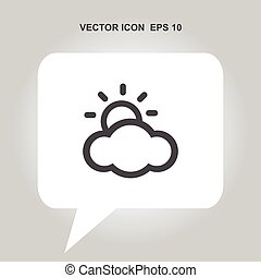 sunny weather vector icon