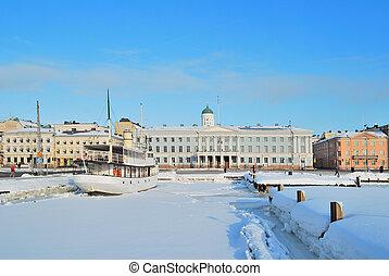 Sunny winter day in Helsinki - Finland. Wonderful sunny ...