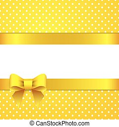 Sunny yellow background with bow