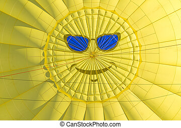 Sunnyside Up - Smiley Face On The Top Of A Hot Air Balloon
