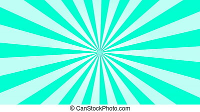 Sunray Background in Blue and White Rays Looping