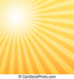 Sunray background with the light source offset