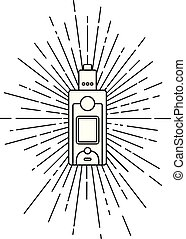 sunray burst electric cigarette personal vaporizer vector...