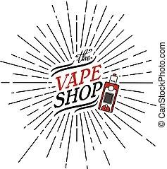 sunray burst electric cigarette personal vaporizer vector ...