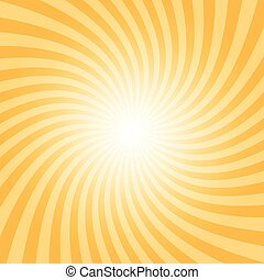 sunray, patrón, espiral
