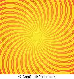 Sunrays - Orange and yellow sun rays vector vintage...
