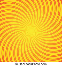 Sunrays - Orange and yellow sun rays vector vintage...