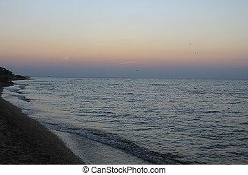 Sunrise above Black sea