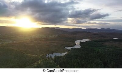 Sunrise above Maas and Lough Namanlagh in County Donegal - Ireland