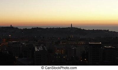 Sunrise above Old City Time Lapse,