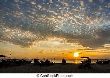 sunrise and dramatic cloud
