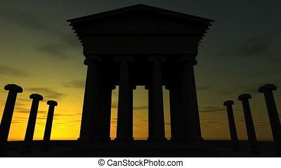 Sunrise At Ancient Ruin