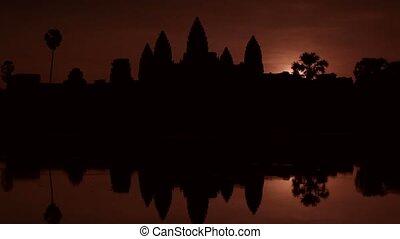 Sunrise at Angkor Wat temple, Asia