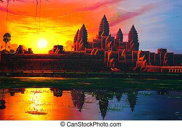 Sunrise at Angkor Wat,Cambodia