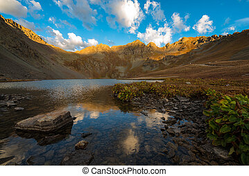 Clear Lake near Silverton San Juan Mountains - Sunrise at...