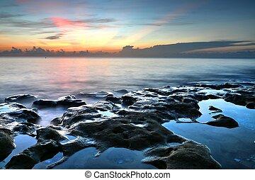 Sunrise At Coral Cove Beach