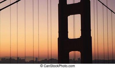 Sunrise at Golden Gate Bridge bay