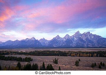 Sunrise at Grand Teton National Park