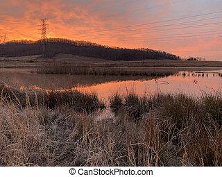 Sunrise at Gupton Wetlands