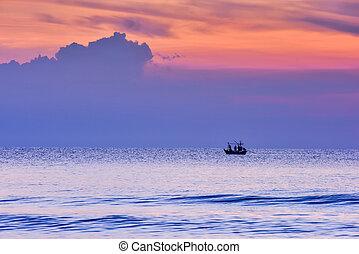 sunrise at Hua Hin Thailand