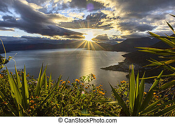 sunrise at lake atitlan