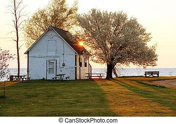 Sunrise at Lake Huron