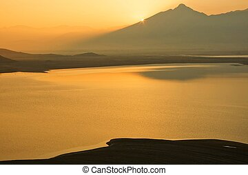 Sunrise at Lake Isabela