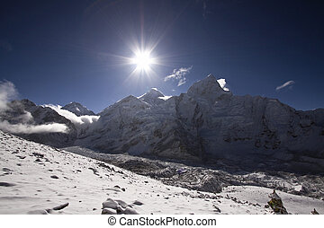 sunrise at mount everest nepal
