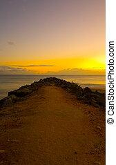 Sunrise at Noosa Beach Breakwater 1