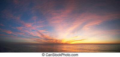 Sunrise at ocean