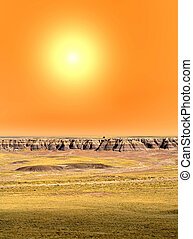 Sunrise at Petrified Forest Arizona