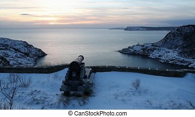 Signal Hill, Newfoundland - Sunrise at Signal Hill,...