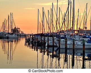 Sunrise at St Petersburg FL marina