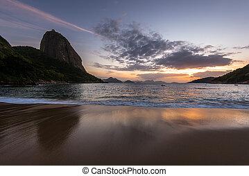 Sunrise at the Beach in Rio de Janeiro