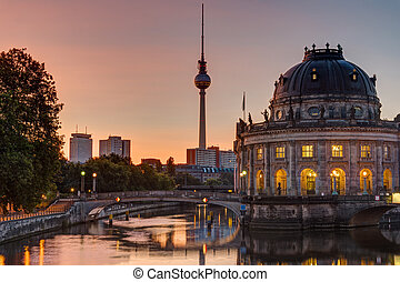 Sunrise at the Bode-Museum in Berlin
