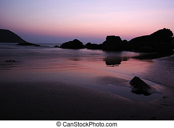 Sunrise at the Indian ocean coast