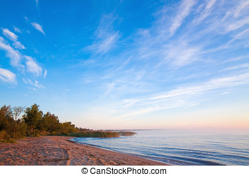 Ladoga lake - Sunrise at the Ladoga lake